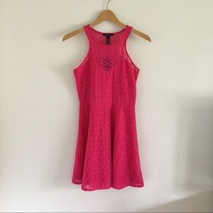Material Girl Pink Lace Skater Dress NWT